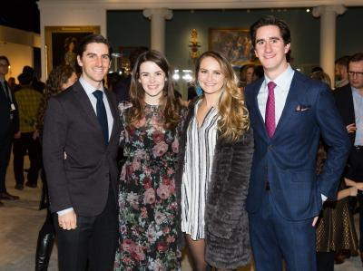 Young Collectors Night: Sam Dangremond, Catherine Smith, Augustus Dangremond. Courtesy Sharp Communications and the Winter Antiques Show.