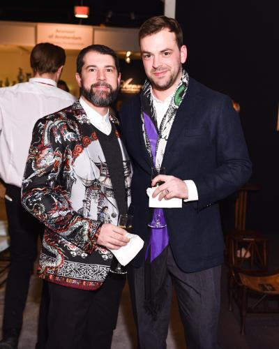 Young Collectors Night: Jeffery Rhodes and William Cullum. Courtesy Sharp Communications and the Winter Antiques Show.