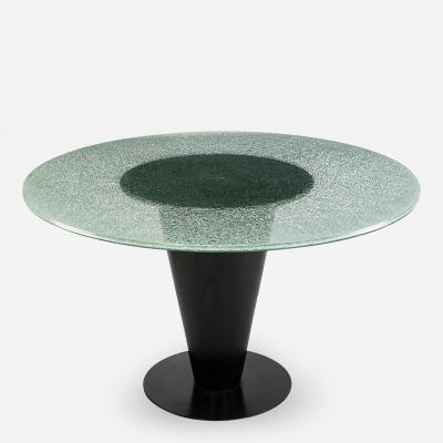 Joe Durso Joe DUrso for Bieffeplast Conical Steel and Glass Dining Table