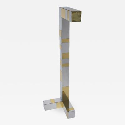 Paul Evans 1970s Paul Evans Brass and Chrome Cityscape Floor Lamp