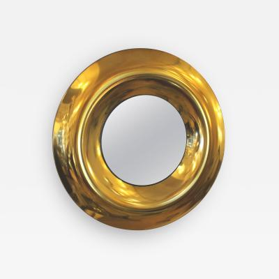 Ghiro Studio Large Round Golden Glass Mirror by Studio Ghiro Italy 2014