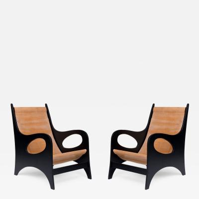 Jacques Jarrige Meander Armchairs by Jacques Jarrige