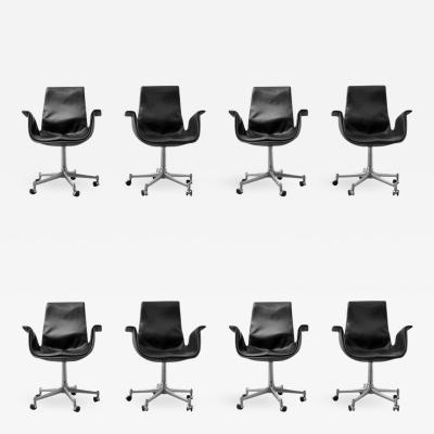 Preben Fabricius Preben Fabricius J rgen Kastholm Leather Bird Chairs Set of Eight