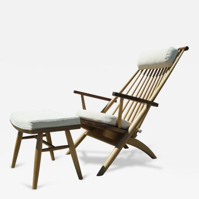 Tateishi Shoiji Lounge Chair and Ottoman by Tateishi Shoiji