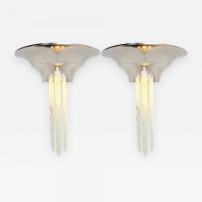 Jean Perzel Pair of Art Deco Sconces By Jean Perzel