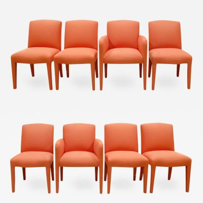 Donghia Donghia Set of 10 Salmon Dining Chairs 1980s
