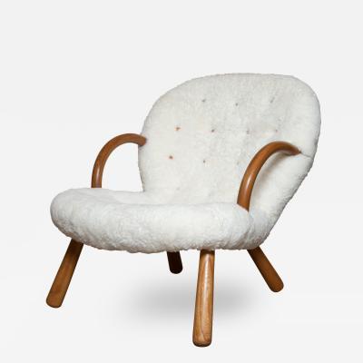 Philip Arctander Philip Arctanders Clam Chair with Sheepskin