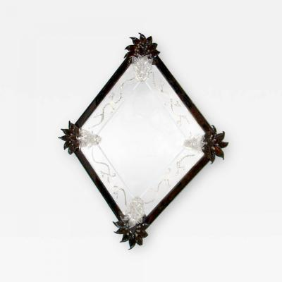 Fratelli Barbini Black Venetian Mirror