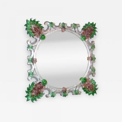 Fratelli Barbini Green Venetian Mirror