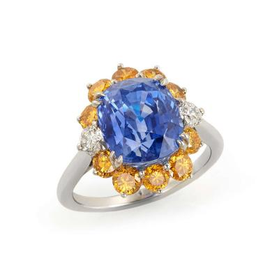Carvin French Unheated Sapphire ring by Carvin French