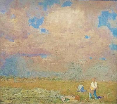 William Langson Lathrop A Distant Shower