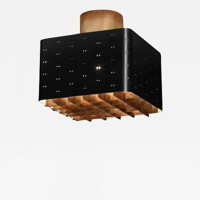 Paavo Tynell Paavo Tynell black square flush mount for Idman Finland