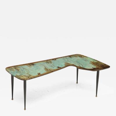 Decalage Hand Painted Low Table by Decalage