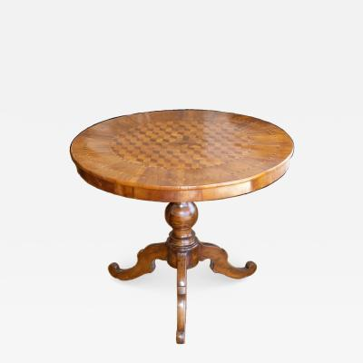 Italian Marquetry Table Circa 1850