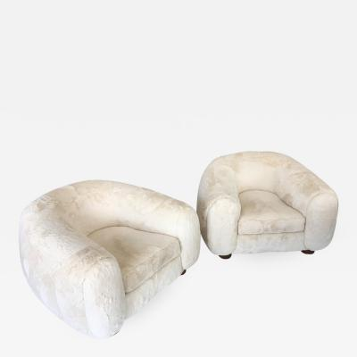 Pair of Polar Chairs by Jean Royere