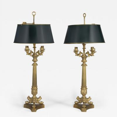 A Pair of Empire Style Candelabra