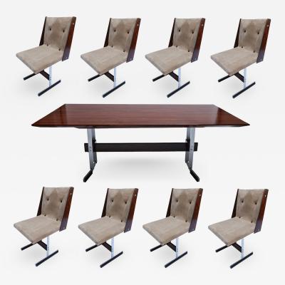 Jorge Zalszupin 1960s Brazilian Jacaranda Dining Table Chairs attrib to Zalszupin