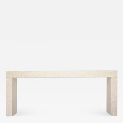 Lance Thompson The Altar Table Piasentina Stone Console Made to Order