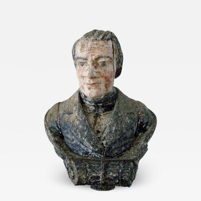 Wooden Carved Figurehead of Robert Fulton c 1813