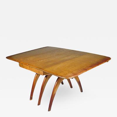 Heywood Wakefield Heywood Wakefield Butterfly Drop Leaf Wishbone Dining Table