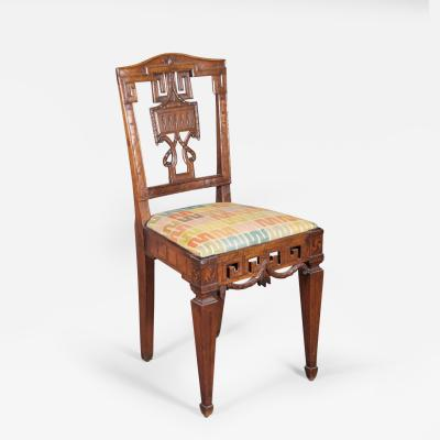 A Pair of Louis XVI Side Chairs German ca 1780