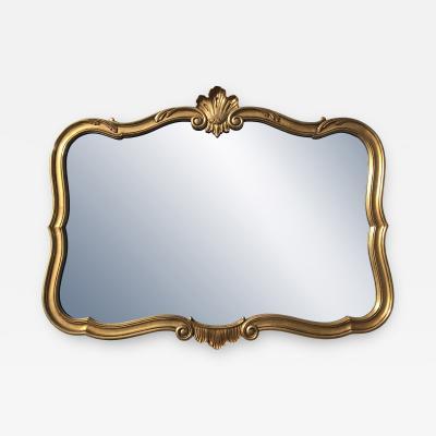 John Widdicomb Gold Leaf Cartouche Mirror
