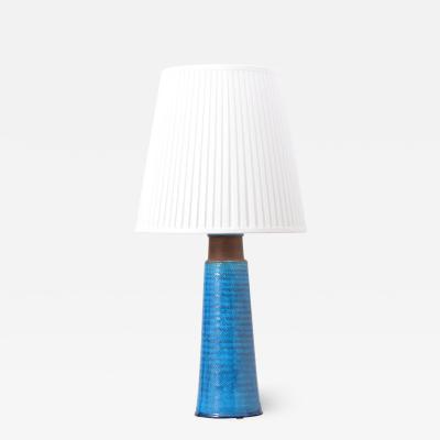 Nils Kahler Large Danish Stoneware Table Lamp with Turquoise Glazing by Nils K hler 1960s