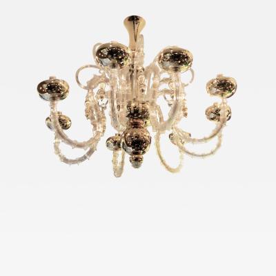 Venini Large beautiful Venini Murano chandelier