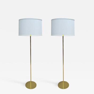 Pair of Hansen Style Solid Bronze Standing Lamps