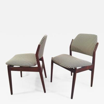Arne Vodder ARNE VODDER Pair of rosewood and textile chairs circa 1960 Denmark