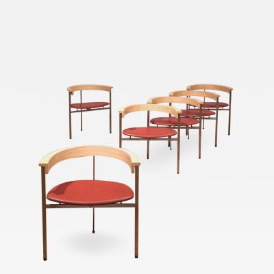 Poul Kj rholm Poul Kjaerholm Set of Six Chairs Model PK11