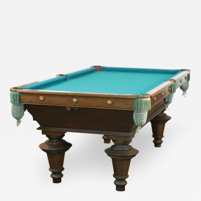 Antique Pocket Billiards Pool Table Brunswick Balke Collender