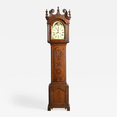John Fisher York County Pennsylvania Tiger Maple Tall Case Clock c 1785