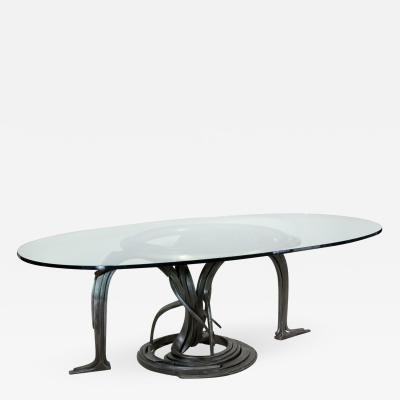 Albert Paley Forged Steel Dining Table 1984