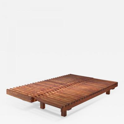 Pierre Chapo Pierre Chapo convertible elm daybed France 1960s