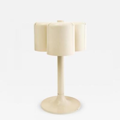 Neal Small Neal Small Triple Shade Table Lamp in Enameled Metal 1971
