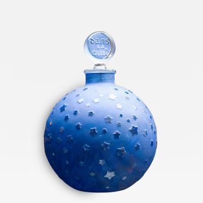 Rene Lalique Rare Huge Lalique Stars Dans la Nuit Post War Perfume Bottle