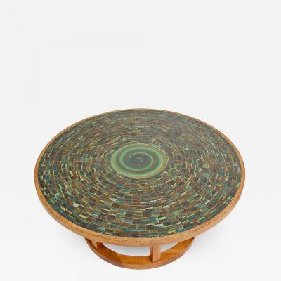 Gordon Martz Ceramic Tile Top Coffee Table by Gordon and Jane Martz