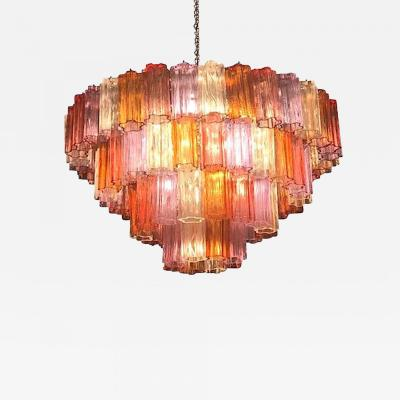 Midcentury Multicolored Murano Glass Tronchi Chandelier T Zuccheri for Venini