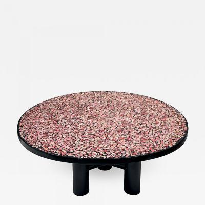 Etienne Allemeersch Coffee table in Rhodochrosite and resin by Etienne Allemeersch circa 1970