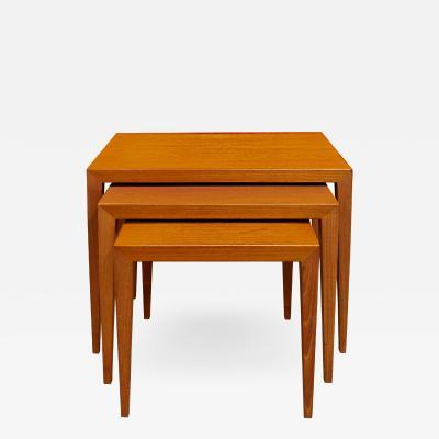 Danish Set of 3 Teak Nesting Tables 1950s