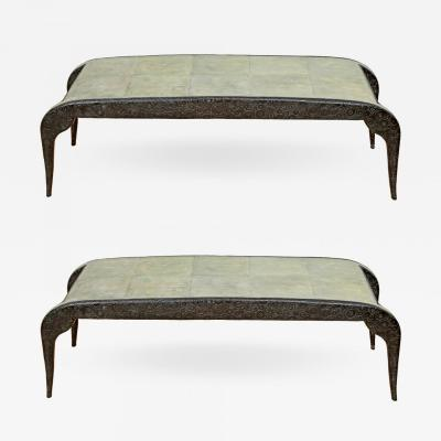 R Y Augousti Bronze Shagreen Bench