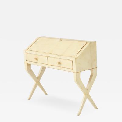 Gio Ponti Parchment Fall Front Desk by Gio Ponti