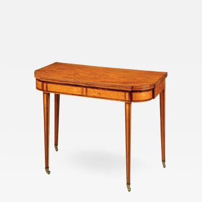 John and Thomas Seymour Federal Card Table c 1795 1800