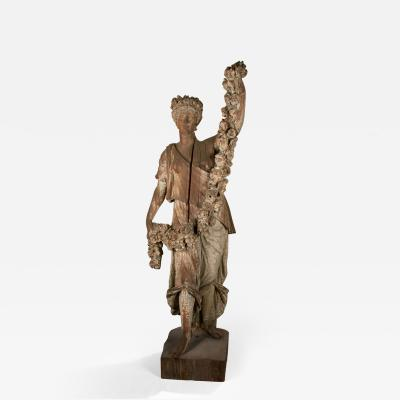 Carved Figure of Spring from the Four Seasons New York circa 1875 1890