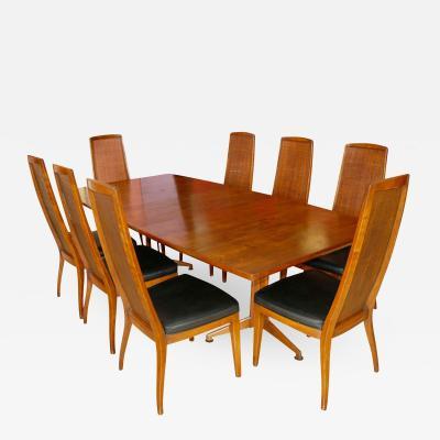 John Widdicomb Co John Widdicomb Dining Room Table and Eight Chairs