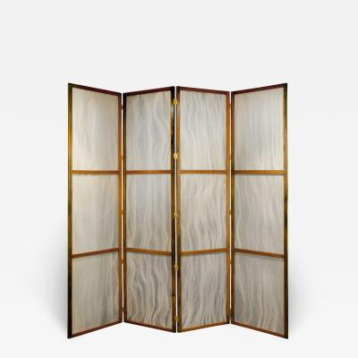 Pair of Tall Screens with Inset Horse Hair Panels 1960s