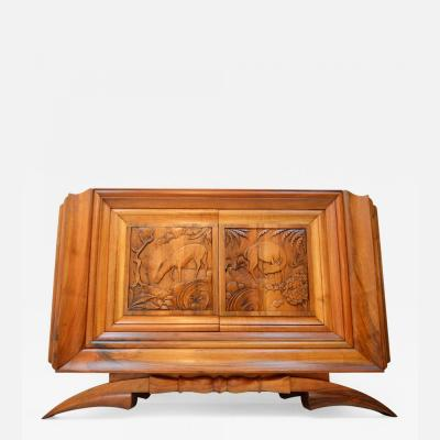 Dominique Walnut Cabinet by Dominique Exhibited at the Exposition Coloniale Paris 1931