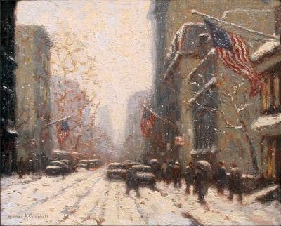 Laurence A Campbell Snow Storm Arch Street Philadelphia