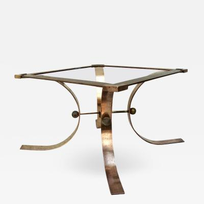 Arturo Pani Sculptural Side Table in Brass Attributed to Arturo Pani